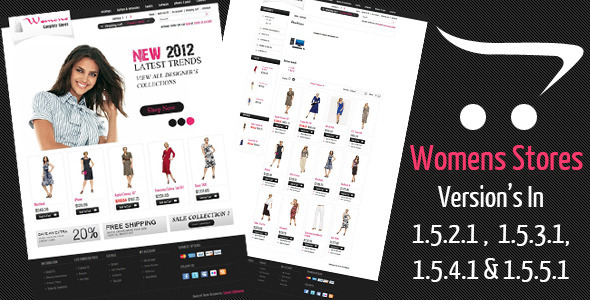 Womens Stores Opencart Theme Fashion