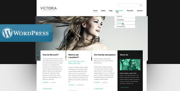 WordPress Template Victoria WordPress Creative