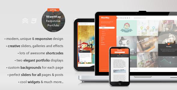 WowWay - Interactive & Responsive HTML Portfolio Template