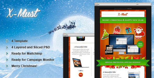 X-Must - Christmas E-Mail Templates