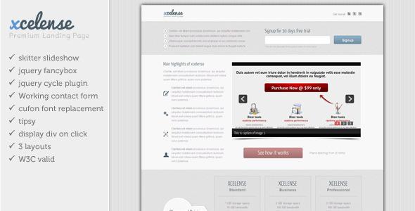 Xcelense Landing Page LandingPages Landing Page