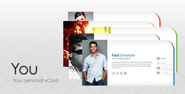 You - Personal vCard Template Personal
