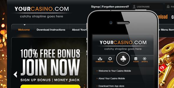 Your Casino PSD Creative