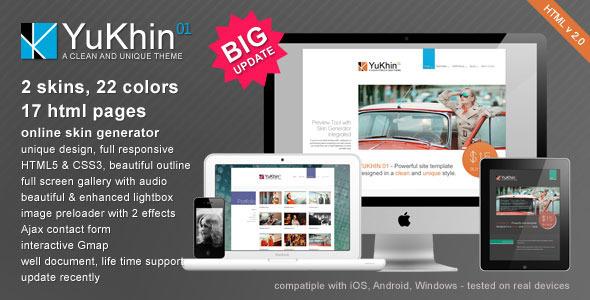 YuKhin 01 - Responsive HTML5 & CSS3 site template Creative