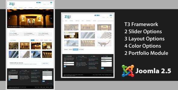 Zijji - Corporate JomSocial Ready Joomla Template Corporate