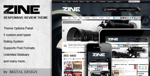 Zine - Modern & Responsive Review Theme WordPress Blog/Magazine