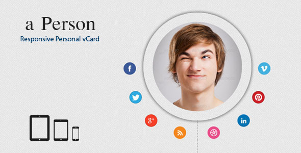 a-person , Responsive Personal vCard Template Personal