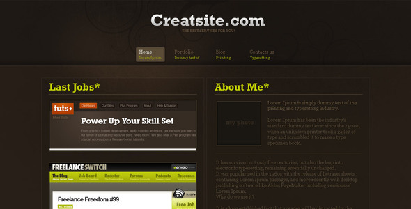 creatsite Creative PSDTemplates