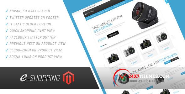 e-shopping Magento Theme Shopping