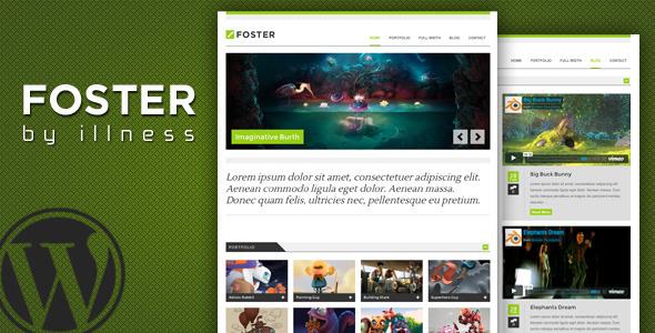 foster - one pager portfolio theme WordPress Creative