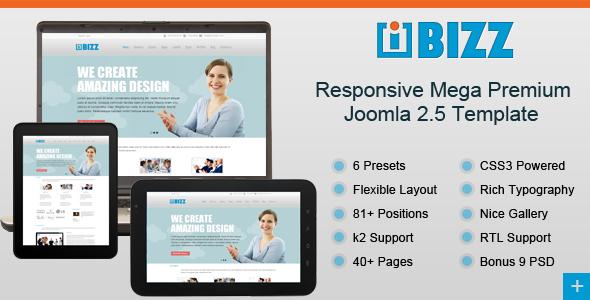 i-Bizz Responsive Mega Premium Joomla Template