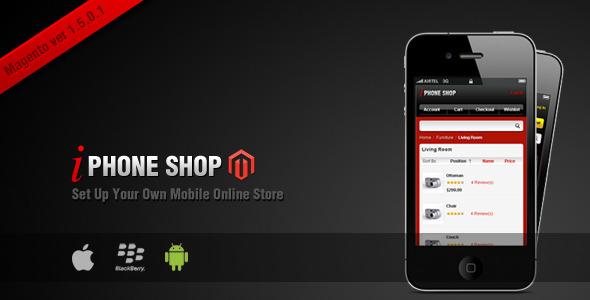 iPhone Shop Shopping Magento Theme