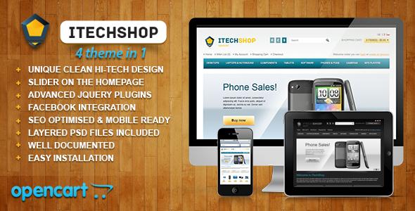iTechShop OpenCart 1.5.4 Theme Technology