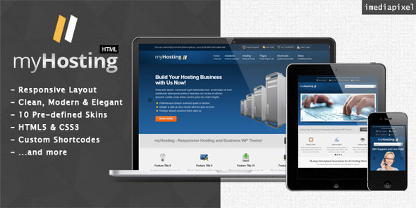 myHosting - Responsive Hosting & Business Template Technology