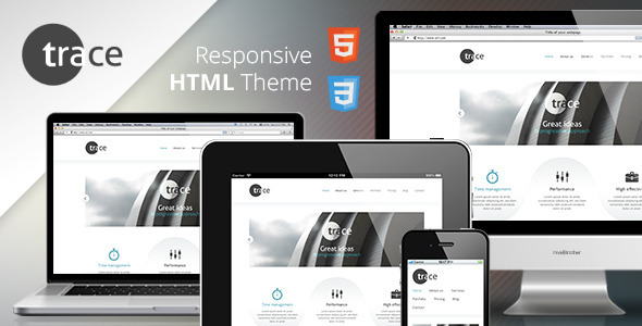 trace - Responsive HTML Template Corporate