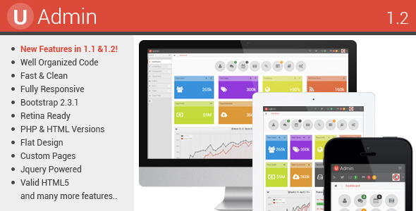 uAdmin - Responsive Admin Dashboard Template AdminTemplates
