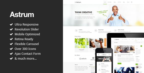 Astrum - Responsive Multi-Purpose HTML5 Template