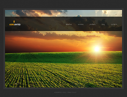 Black Agriculture WordPress Template by Delta TMT