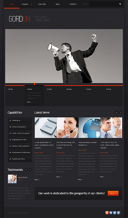 Black Business WordPress Template by Astra TMT