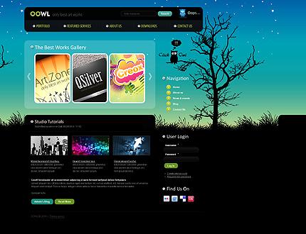 Black & Cyan Web Design Drupal Theme by Delta TMT