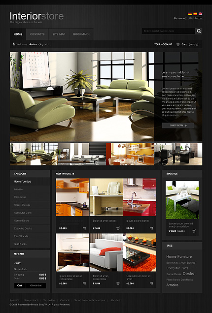 Black Interior Website TMT
