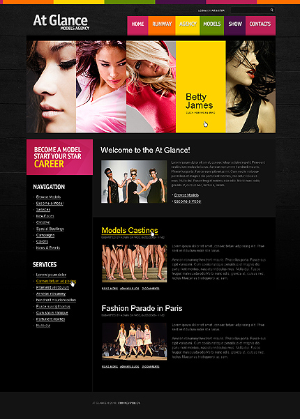 Black Model Agency Drupal Theme by Hugo TMT