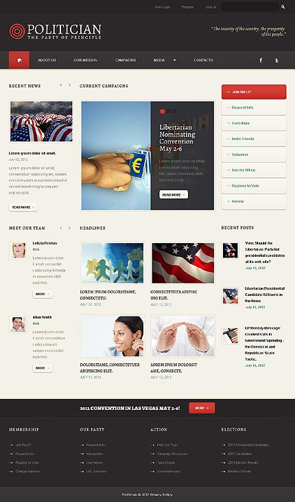 Black & White Political Party WordPress Theme by Astra TMT