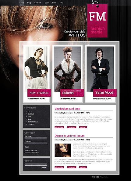 Black & White Fashion Drupal Template by Mercury TMT