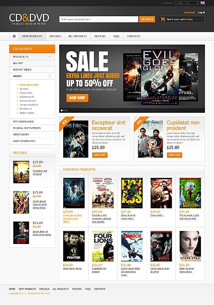 CD & DVD Store Zen Cart  TMT
