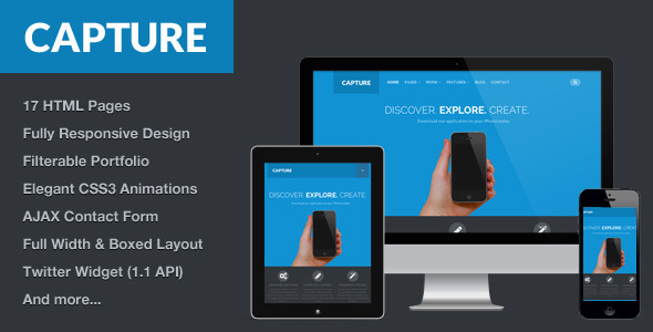 Capture - Responsive Bootstrap HTML Theme