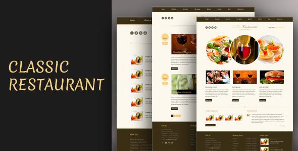 Classic Restaurant - Responsive Theme Css3/Html5