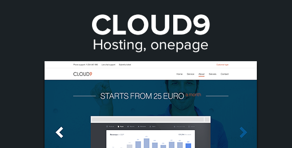 Cloud9 - One Page Responsive Hosting Template