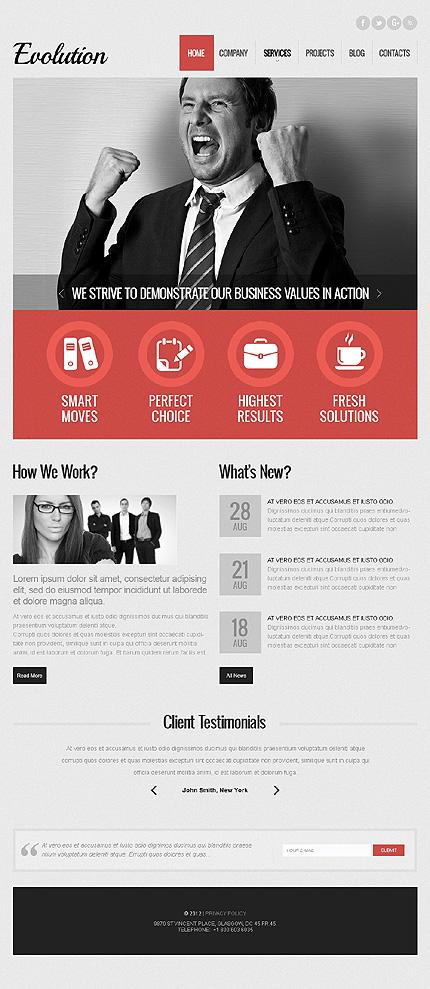 Grey & White Advertising Agency WordPress Theme by Sawyer TMT