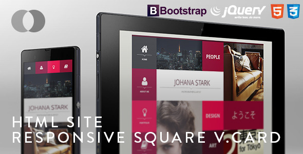 HTML Site - Responsive Bootstrap Square vCard