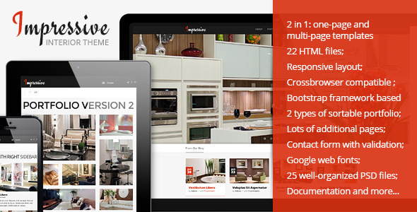 Impressive - Interior Responsive HTML5 Template