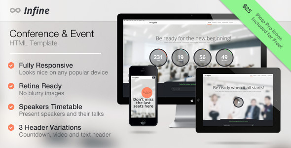 Infine - One Page Conference & Event Template