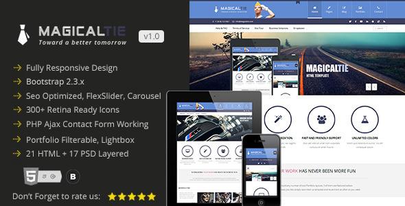 MagicalTie Responsive Multipurpose HTML Template