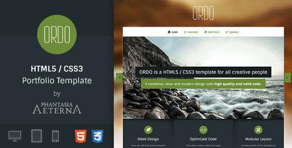 Ordo - Portfolio HTML5 Template