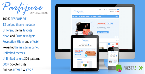 Parfijure – Premium Responsive PrestaShop theme!