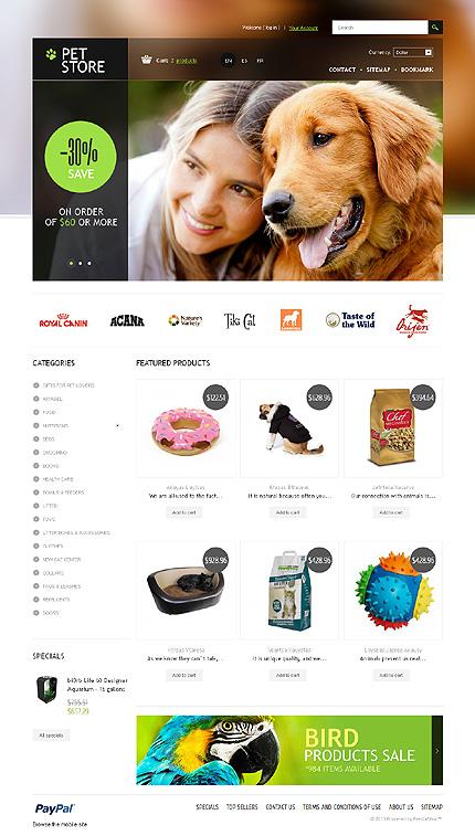 Шаблоны для сайтов ветеринарных клиник, ветеринарных аптек, интернет зоомагазинов
