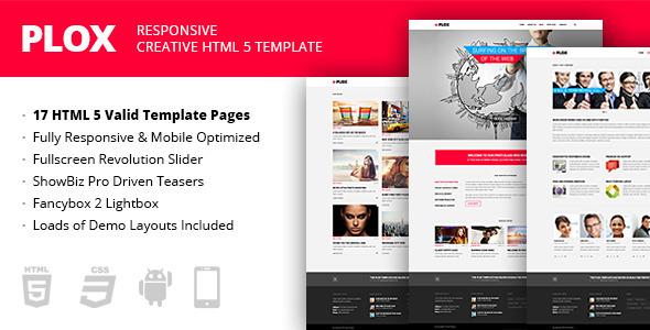Plox - Responsive Creative HTML5 Template