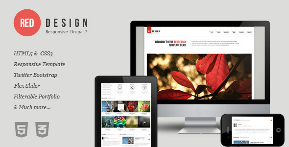 RedDesign - Responsive Drupal 7 Theme