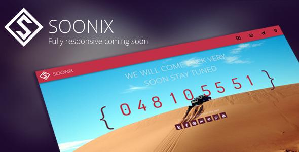 Soonix | Responsive Coming Soon Template