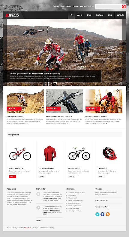 Sport Bikes Jigoshop Themes  TMT