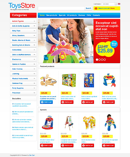 Toys Store Zen Cart  TMT