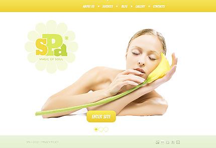 White Beauty Salon WordPress Theme by Delta TMT