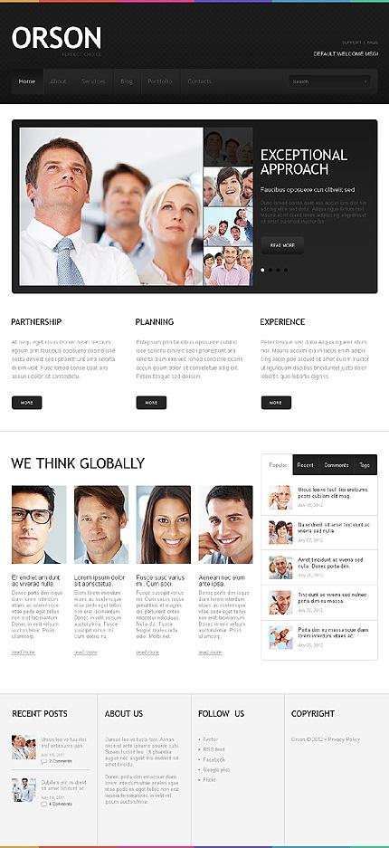White & Black Business WordPress Template by Cowboy TMT