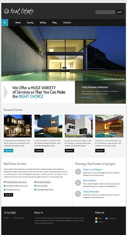 White & Black Real Estate Agency WordPress Theme by Svelte TMT