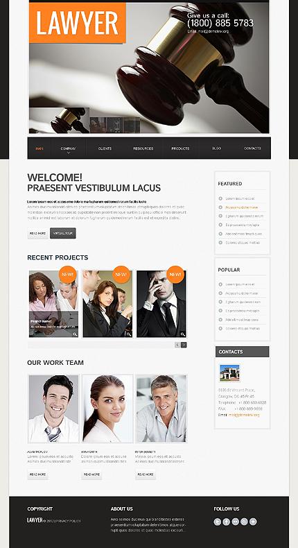 White & Black Law Firm WordPress Theme by Sawyer TMT