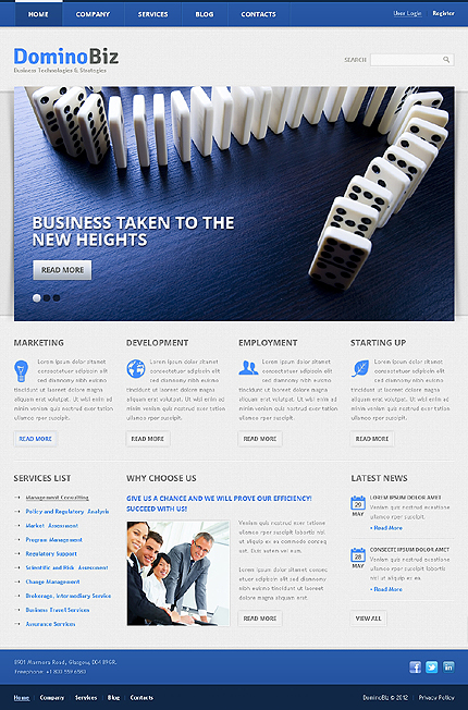 White Business WordPress Template by Hinoriko TMT